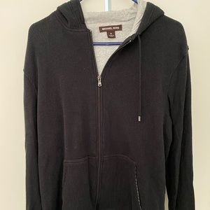 Men's Michael Kors lined hoodie in waffle knit